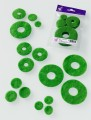 Prefelt cut shapes Circles Green