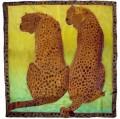 Cheetah Scarf 90 cm  x 90 cm, clear gutta