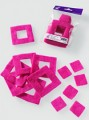 Prefelt cut shapes Squares Fuchsia