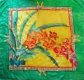 Orchid scarf 90 cm x 90 cm H8