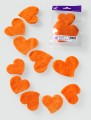 Prefelt cut shapes In Love Orange