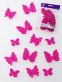 Prefelt cut shapes Butterflies Fuchsia