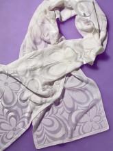 Velvet devore scarf Flower Power