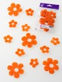 Prefelt cut shapes Flowers Orange
