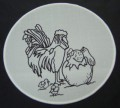 Chickens suncatcher 15 cm diameter