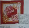 Dendrobium scarf 90 cm x 90 cm H8