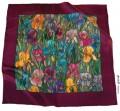 Iris Blossom scarf 110 x 110 cm