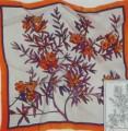 Laurier Rose scarf 90 cm x 90 cm