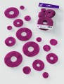 Prefelt cut shapes Circles Purple