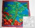 Banana plantation scarf 90 cm x 90 cm