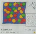 Pre Gutta Balloons silk scarf 43 x 43 cm