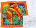 Toucan scarf 90 cm x 90 cm