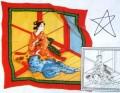Geisha scarf 55 x 55 cm Pajent 5mm