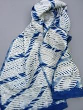 Woven shibori scarves at Silksational