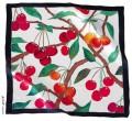 Cherries scarf 55 cm x 55 cm