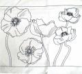 Wild Poppies cushion cover 40 cm x 40 cm