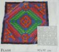 Flash scarf 90 cm x 90 cm
