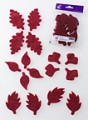 Prefelt cut shapes Leaves Bordeaux