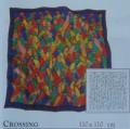 Crossing scarf 110 cm x 110 cm
