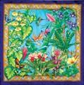 Butterfly garden scarf 90 x90 cm