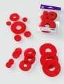 Prefelt cut shapes Circles Tomato