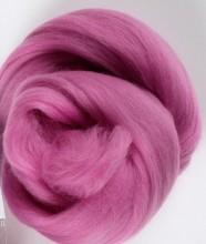 Dusky pink merino wool top