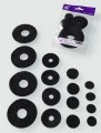 Prefelt cut shapes Circles Black