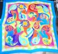 Large Paisley scarf 90 x 90 cm