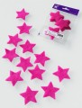 Prefelt cut shapes Stars Fuchsia