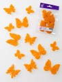 Prefelt cut shapes Butterflies Tangerine