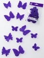 Prefelt cut shapes Butterflies Violet