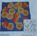 Oranges scarf 110 cmx 110 cm P5