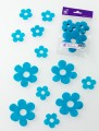 Prefelt cut shapes Flowers Turquoise